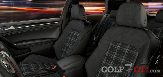 alcantara sitze innenausstattung etc golf 7 gti. Black Bedroom Furniture Sets. Home Design Ideas